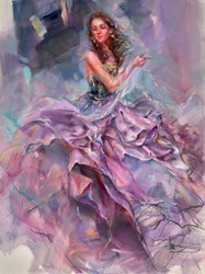 Woven Dreams II by Anna Razumovskaya -  sized 30x40 inches. Available from Whitewall Galleries